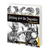 英文原版 幻想速写:魔法生物和怪兽素描 全球50位概念艺术家创作手稿画册 Sketching from the Imag