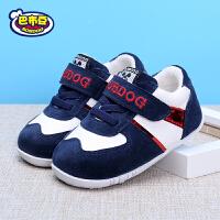 巴布豆宝宝鞋 男宝宝鞋子1-3岁女童婴儿鞋秋季新款软底防滑学步鞋
