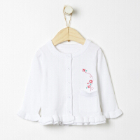 【满1000减750】moomoo童装女幼童毛织外套2019新款春装时尚外套