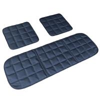 汽车坐垫夏季单片座椅垫透气冰丝四季通用三件套座垫无靠背车凉垫 打孔皮革