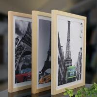 实木4k8k16寸24寸28寸32寸a3a4创意相框挂墙画框海报广告框