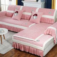 冬季水晶绒沙发垫套布艺防滑欧式毛绒沙发套全包套通用型坐垫