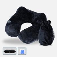 充气U型枕头 按压自动充气护颈枕脖枕旅行便携脖枕午睡枕