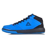 匹克 新款 篮球鞋战靴减震防滑耐磨皮革中帮运动鞋E33071A