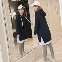 韩版秋装卫衣孕妇连衣裙卡通印花上衣宽松孕妇裙