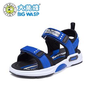 大黄蜂童鞋 男童沙滩鞋2019新款夏小孩防滑轻便小童3-9岁儿童凉鞋