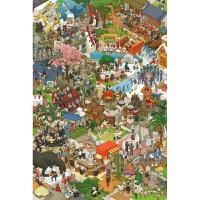 手绘版开心小镇木质5000片拼图1000动漫玩具进口品质
