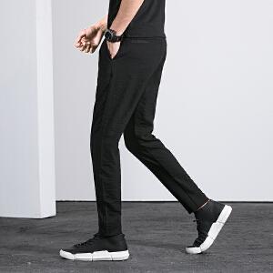 新款休闲裤冰丝九分裤薄款裤子运动裤303AK02