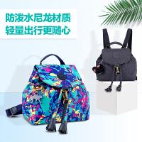 2018新款潮流韩版双肩包女时尚百搭个性书包尼龙布小背包女士包包