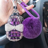 通用汽车钥匙包女士韩国可爱创意汽车钥匙套挂件车用钥匙壳扣大众 毛球