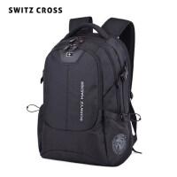 瑞士防�I高中�W生��包15.6寸商�针��X包男�p肩包男大容量旅游背包