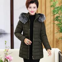 中老年女装棉衣冬装新款中长款羽绒棉袄中年人妈妈装加厚外套