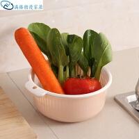 双层塑料果蔬沥水篮厨房洗菜盆水果篮收纳筐