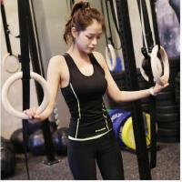 韩国运动套装女健身房跑步服 瑜伽服女士背心运动套装