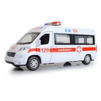 嘉业 仿真邮政救护车 顺丰速递合金汽车模型 儿童声光回力玩具车