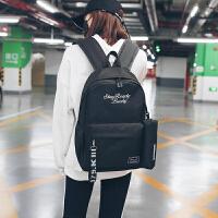 韩版书包原宿校园双肩包书包潮流背包男女小初高中学生包
