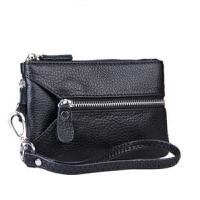 牛皮女式零钱包钥匙包 实用多功能小包 手拿包女手机包卡包