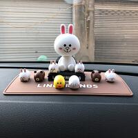 可爱卡通布朗熊可妮兔汽车摇头公仔车内饰品摆件创意车载装饰