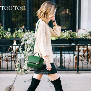 TOUTOU2017夏季新款韩版女包斜挎包百搭迷你翅膀包单肩绿色小包包