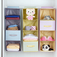 布艺衣柜收纳袋悬挂式储物袋多层抽屉式衣服收纳挂袋收纳盒整理袋