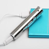 USB充电强光小手电筒迷你带点烟器激光灯教鞭激光手电