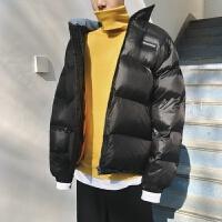 港风冬季情侣短款棉袄加厚保暖面包服韩版女男宽松外套棉衣男