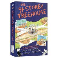 小屁孩树屋历险记 英文原版 The 91-Storey Treehouse 91层树屋 儿童插图漫画章节桥梁故事书 小