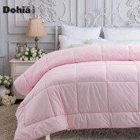 多喜爱家纺新品暖意舒柔七孔羊毛被(粉)磨毛被面保暖冬被床上用品被芯被子