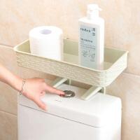 吸壁式壁挂置物架浴室厕所免打孔收纳架卫生间塑料洗漱用品储物架