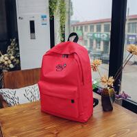 韩版男女情侣款比心双肩包女生初高中学生书包小清新背包旅行包