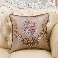 欧式复古流苏靠垫抱枕 床头沙发靠枕靠垫套含芯大抱枕圆抱枕