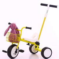 日本儿童三轮车脚踏车2-5岁宝宝轻便手推杆车无印幼儿童车自行车