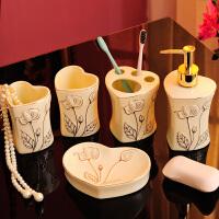 欧式陶瓷漱口杯情侣牙刷杯子套装创意家用卫生间洗漱结婚用品