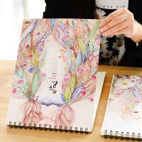 A4空白素描本手绘线圈画本素写本绘画16k开成人速写本子画画学生用厚纸加厚
