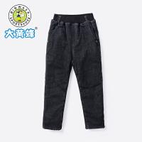 【2件4折价:79.92元】大黄蜂男童装 儿童牛仔裤6-9岁男孩加绒保暖长裤2019新款男童裤子