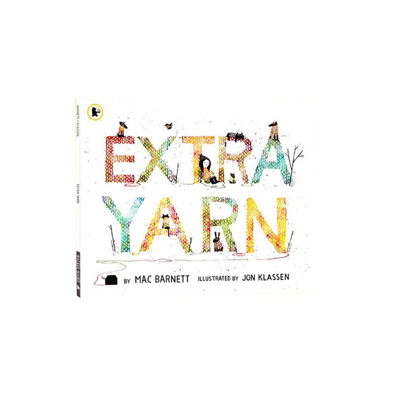 英文原版绘本 Extra Yarn 穿毛衣的小镇 凯迪克银奖 儿童启蒙图画故事书