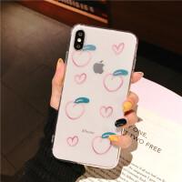 新款iphoneXsmax手机壳女7情侣8x桃子XR苹果6s手机套6splus全包ipx软壳7p8p