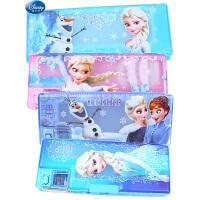 迪士尼冰雪奇缘文具盒公主多功能密码锁铅笔盒小学生削笔刀盒女生