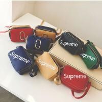 女童包包2018新款超可爱百搭韩版儿童包包字母拎包手拎包斜挎包