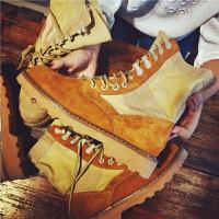 秋季新款沙漠靴马丁靴女英伦风真皮短靴学生军靴机车工装靴