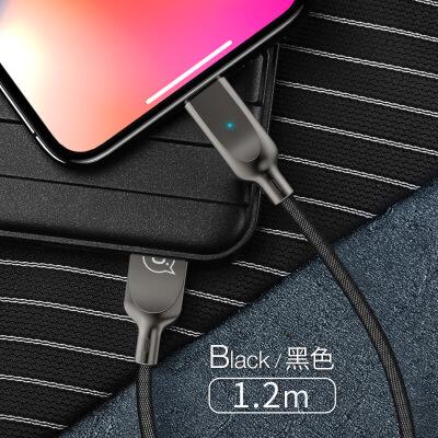 苹果数据线iPhone6充电线6s器7P手机plus自动智能断电抖音8加长2米快充sp短ios冲ip