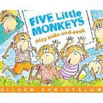 Five Little Monkeys Play Hide-And-Seek 英文原版五只小猴子捉迷藏