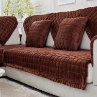 大红短毛绒加厚纯色红色沙发垫防滑结婚喜庆坐垫冬季皮沙发罩婚庆