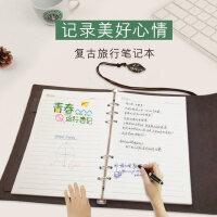 韩国创意可拆卸活页手帐本简约旅游日式记事本文具小清新笔记本子