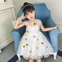 女童连衣裙夏装新款中大儿童洋气公主纱裙韩版背心裙子潮童装