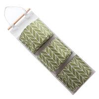 加厚款棉麻水收纳挂袋悬挂式多层挂兜布艺门后杂物储物袋收纳袋防 58.5*20.5*14CM