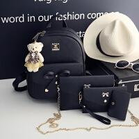 女士时尚双肩包女韩版潮小学生旅行背包女童书包休闲女孩包包