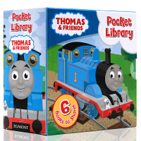 Thomas and Friends Pocket Library托马斯与朋友小小图书馆 英文原版儿童英语绘本6册手掌纸板书 火车头英文绘本封底可玩拼图