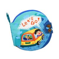 LALABABY/拉拉布书 早教6-12月婴儿书籍0-1-3岁撕不烂可咬 立体尾巴布书 let's go