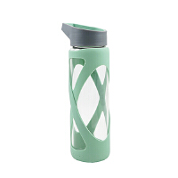 【当当自营】乐扣乐扣(lock&lock)硅胶杯套 耐热玻璃水杯-X型(510ml) LLG931G绿色